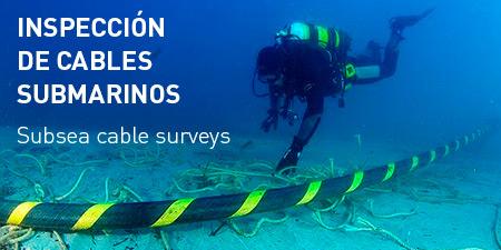 Servicios inspección Cables submarinos Acostasub