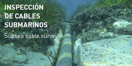 Inspección de cables submarinos